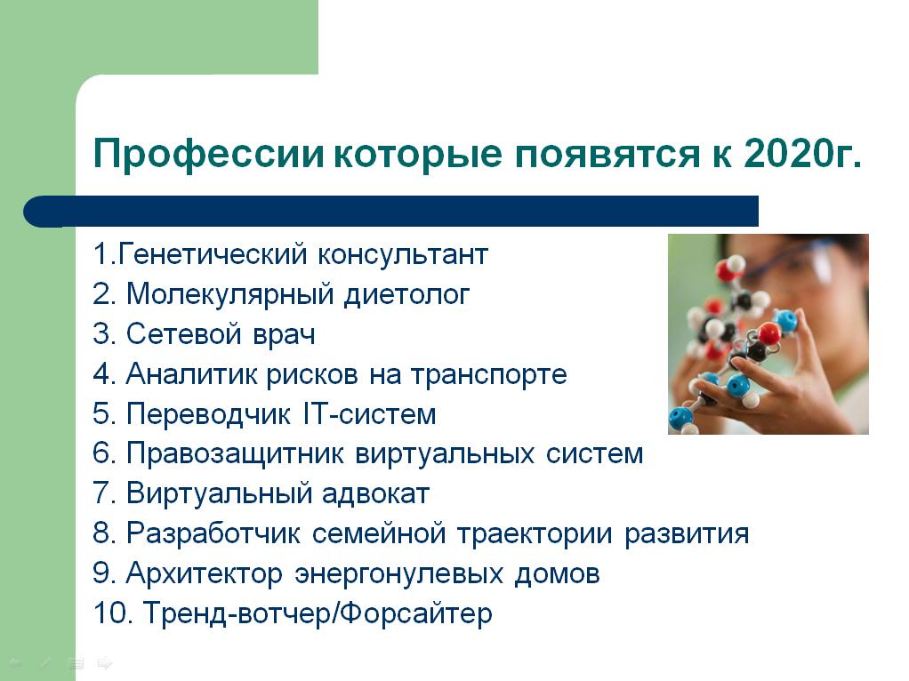 Профессии, которые появятся к 2020 г.