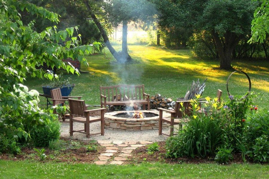 Как организовать место для отдыха на садовом участке