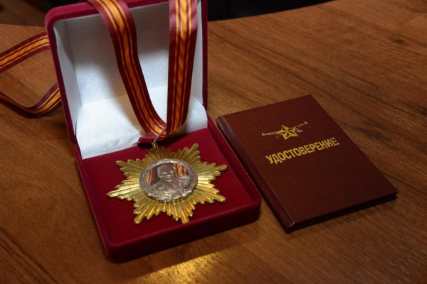 Губернатор Меркушкин получил орден за воспитание патриотизма