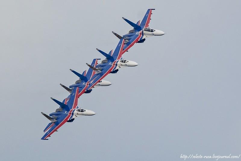 Прошла репетиция авиашоу, посвященного празднованию Дня Государственного флага РФ