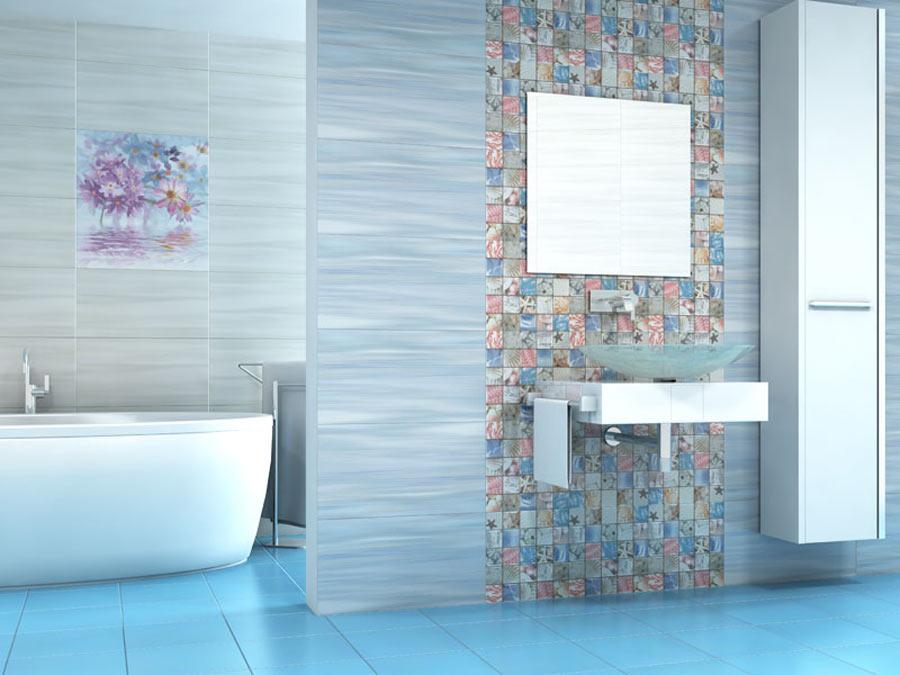 Изумительный дизайн ванной благодаря керамической плитке