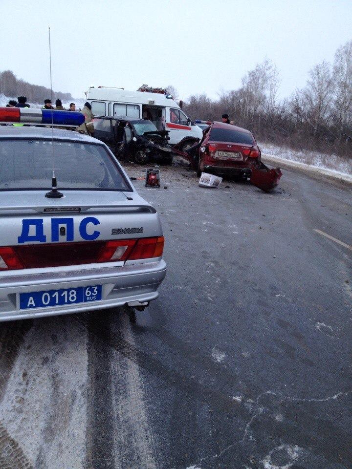 На трассе в Самарской области произошло смертельное ДТП ФОТО
