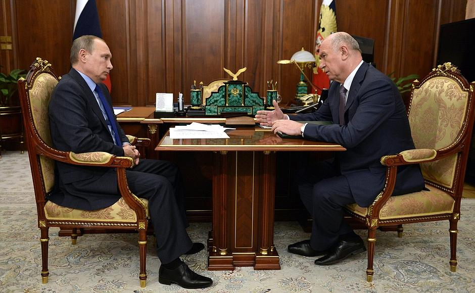 Губернатор Меркушкин встретился с президентом Путиным