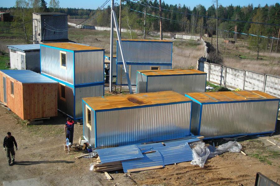 Конструкция металлических бытовок (блок-контейнеров)