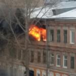 В историческом центре Самары снова горел дом