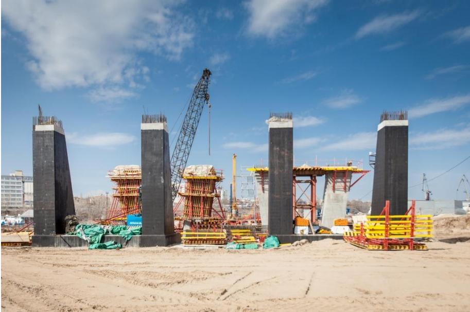 Фотоотчёт апрельских итогов строительства Фрунзенского моста