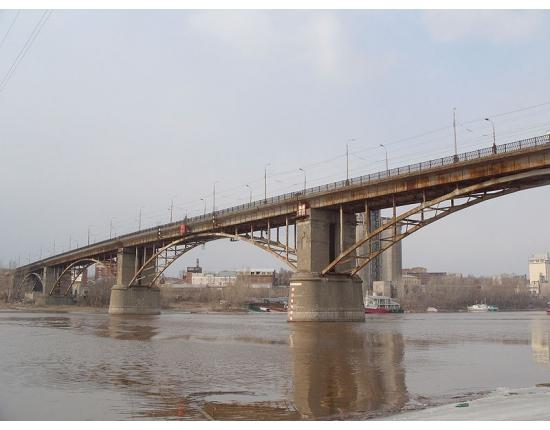 На мосту через р. Самару произошло ЧП. Из-за плохой погоды