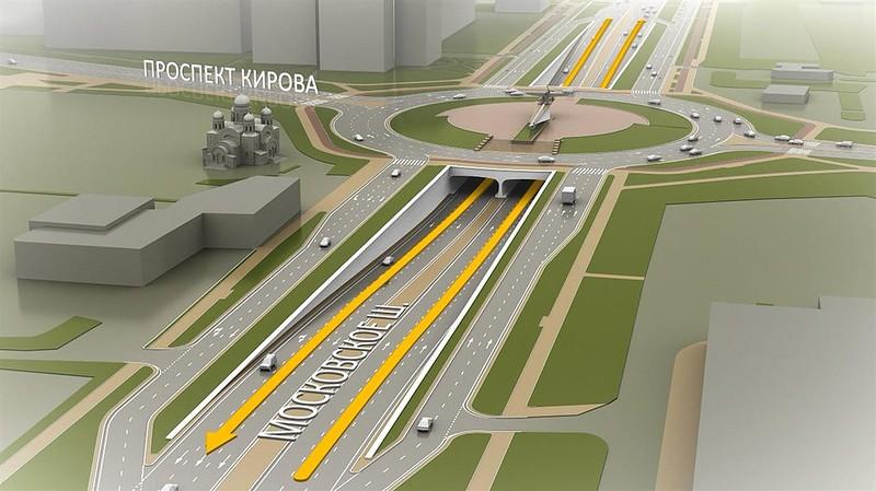 Московское шоссе/пр. Кирова перекроют на три месяца