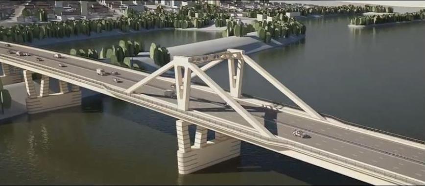 Работы по возведению Фрунзенского моста начались на правом берегу реки Самары