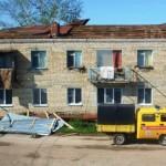 Ураган, свирепствовавший в Пестравском районе, сорвал крыши с жилых домов