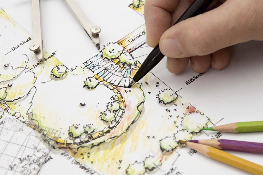 Проектирование ландшафтного дизайна возле дома