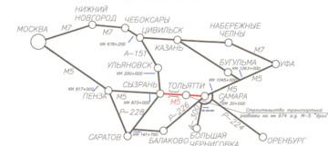 На трассе М-5 в районе Жигулевска и Тольятти изменится схема дорожного движения